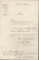 Autographe Adolphe Edouard Joseph Mortier Maréchal D'Empire Légion D'honneur Signé Maréchal Duc De Trevise 19 2 1833 - Autógrafos