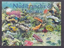 Vanuatu 2008 Marine Life Corals Fishes Native Nudibranchs MNH** - Vita Acquatica