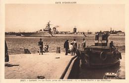 56 Lorient La Rade Prise De Pen Mané Emile Bertin Au Mouillage , Bateau Guerre Marine Militaire Française - Lorient
