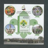 Palestine 278,  Palestinian Authority, 2014, 100 Years Palestinian SCOUTING,  Souvenir Sheet. MNH. - Palestine