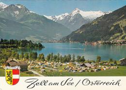 597) ZELL Am SEE - ältere AK CAMPINGPLATZ Detail Mit Kitzsteinhorn - Zell Am See