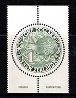 New Zealand 1988 Round Kiwi $1 MNH - Ongebruikt