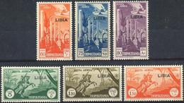 Italian Li..a 1941. Michel #124/29 VF/MNH. Aviation. Airplanes. Horses (Ts21/B03) - Libye
