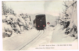CAUX-BAHN VD 1910 Eisenbahn Coloriert - VD Vaud