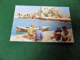 VINTAGE MIDDLE EAST ISRAEL: Caeserea Harbour View Colour Isranof - Israel