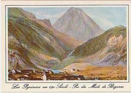 Hautes Pyrénées        H697        Bagnères De Bigorre.Pic Du Midi De Bigorre ( Lithographie ) - Bagneres De Bigorre