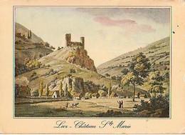 Hautes Pyrénées        H706        Luz.Château Ste Marie ( Litographie Bourgeois ) - Luz Saint Sauveur