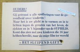 """Affiche Film """"Het Sluipend Gift""""  De Syphilis, Film Bestond Al Tijdens De 2de Wereldoorlog - Collections"""
