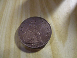 Grande-Bretagne - One Penny George V 1929.N°1562. - D. 1 Penny