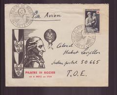 """France, Enveloppe Avec Cachet Commémoratif """" Pilâtre De Rozier """" Du 28 Mars 1954 à Metz - Commemorative Postmarks"""