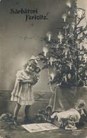 Real Photo Girl With Toys And Doll Christams Tree Sarbatori Fericité . Romania  Used To Targoviste - Andere