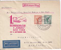 15/09/1930 - Pli Transporté Par Catapulte  Deutscher Katapultflug : Dampfer EUROPA Vers New York - Covers & Documents
