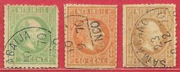 Inde Néerlandaise N°7, 8 & 10 1870-86 (faux/forgery) O - Niederländisch-Indien