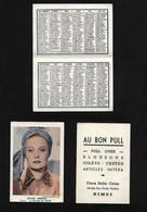 Michèle Morgan 1955 / Calendrier De Poche / Publicité Au Bon Pull Place Belle Croix Nîmes - Klein Formaat: 1941-60