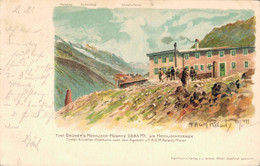 77691- Künstler Ak Reisch, Am Hochjochferner Schnalstal Und Venter Tal Südtirol - Bolzano (Bozen)