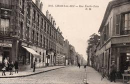 3044. - CHOISY-le-ROI. -  Rue Emile-Zola. - E. M.  ANIME. COMMERCES, Vélo... ETAT NEUF. Voir SCANS Recto-verso - Choisy Le Roi