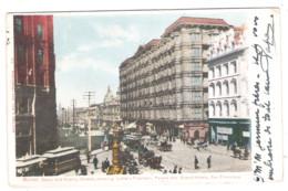 SAN FRANCISCO - Market - Geary And Kearny Streets, Showing Lotta' S Fountain, Palace And Grand - Hotel - 1904  - - San Francisco