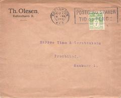 DENMARK - LETTER 1926 KOBENHAVN > HAMBURG //GA38 - Brieven En Documenten