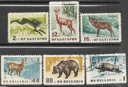 Bulgaria  1958   Sc#1004-9  Wildlife Set Used   2016 Scott Value $4 - Used Stamps