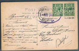 England, 1917, St. Andrews Church, Plymouth, For Lisboa - Briefe U. Dokumente