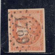 France - Année 1870 - N°YT 48 - 40c Orange - Obl. Losange GC - 1870 Bordeaux Printing
