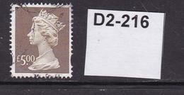 """Great Britain Machin """"Y"""" Series £5 Brown - Gebruikt"""