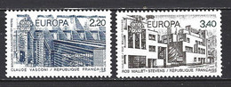 France Yv 2471/2 - Europa 1987 Théme Commun : Architecture Moderne ** - Neufs