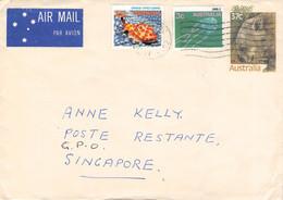 AUSTRALIA - AIRMAIL 1967 HAHNDORF > SINGAPORE //GA43 - Enteros Postales