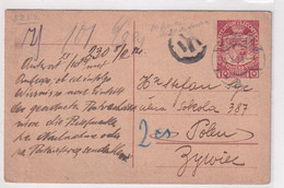 LIECHTENSTEIN - 1919 - RARE CARTE ENTIER De SCHAAN Avec CENSURE => ZYWICE (POLOGNE) ! - Stamped Stationery