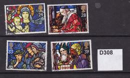 Great Britain 1992 Christmas 24p, 28p, 33p And 39p - Gebruikt