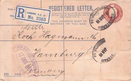 GREAT BRITAIN - REGISTERED MAIL 1910 LONDON > HAMBURG //GA47 - Briefe U. Dokumente