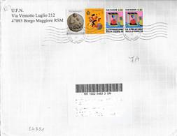 San Marino/Saint Marin: Raccomandata, Registered, Recommandè - Briefe U. Dokumente