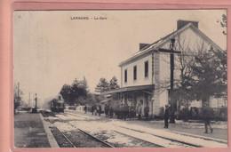 OLD POSTCARD -     FRANCE - TRAIN - RAILWAY STATION - LARAGNE - WAF - Gap