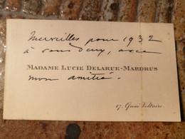 Madame Lucie Delarue Mardrus Honfleur 1874/ Château-Gontier 1945  Poetesse - Autógrafos