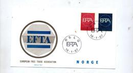 Lettre Fdc Oslo 1967 EFTA - FDC