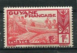 GUYANE  FRANCAISE   N°  124 A *  (Y&T)  (Neuf Charnière) - Nuevos