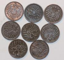 ALLEMAGNE - Lot De Pfennig, 10, 5, 2 Et 1 (19 Monnaies) - Sin Clasificación