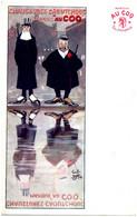 """Gus BOTA - Chaussures Caoutchouc Marque """"Au Coq"""" - Publicité - Andere Illustrators"""