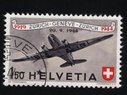 1944 25 J. Flugpost M CH 438 Sn CH C40 Yt CH PA39 Sg CH 444 AFA CH 440 Zum CH F40 Gest. O - Usados
