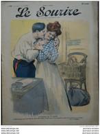 1906 Journal LE SOURIRE - CARICATURE - GOTTLOB ( Amoureux De La Reine ) - Leonce BURRET( Mr PATEMBOIS ) - Collezioni