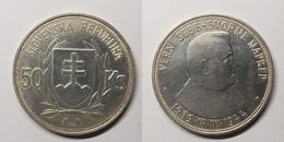 Slovakia 50 Korun 1944 5th Anniversary Of The Slovak Republic KM# 10 Slovak Republic (1939 - 1945) - Eslovaquia