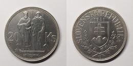 Slovakia 20 Korun 1941 St. Kyrill And St. Methodius KM# 7 Slovak Republic (1939 - 1945) - Eslovaquia