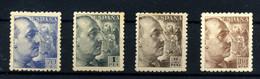 España Nº 929/30, 932, 935. Año 1940/45 - 1931-50 Ungebraucht