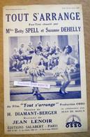 """Fox-Trot Du Film """"Tout S'arrange"""" Chanté Par Betty Spell & Suzanne Dehelly 1931 - Collezioni"""