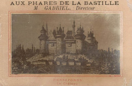 CHROMO  GRANDS MAGASINS DES PHARES DE LA BASTILLE HABILLEMENTS PARIS  PIERREFONDS  LE CHATEAU - Sonstige