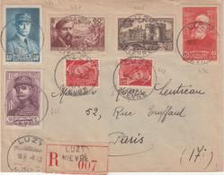 "FRANCE : REC . "" LUZY "" . POUR PARIS . 1942 . - Cartas"