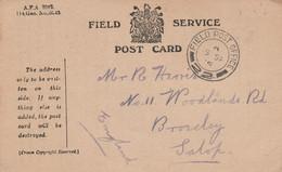 GB LETTRE F M 1916 - Briefe U. Dokumente