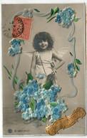 Très Beau Lot De 200 Cpa  Voeux Amitiès Cartes Illustrées Ou Gaufrèes Fleurs Paysages... - 100 - 499 Postkaarten
