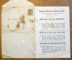 Nationaal Werk Voor Kinderwelzijn, Recolettelei Gent, Borstvoeding Met Adressen Raadpleging Voor Zuigelingen 1935 - Collezioni