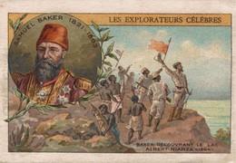 CHROMO  LES EXPLORATEURS CELEBRES  SAMUEL BAKER  DECOUVRANT LE LAC ALBERT-NIANZA - Sonstige